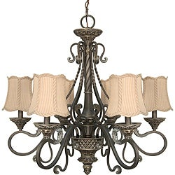 Nuvo Lighting 'Celeste' 6-light Gold Coast Finish Chandelier