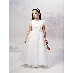 Sweetie Pie Girl's Ivory Flower Girl Dress
