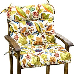 Fireworks Floral Seat and Back Combo Outdoor Cushion