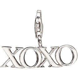 Sterling Silver 'XOXO' Charm