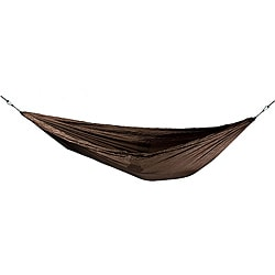 Grand Trunk Woodgrain Emboss Print Nylon Double Parachute Hammock