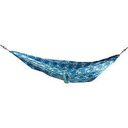 Grand Trunk Blue Hibiscus Print Nylon Double Parachute Hammock