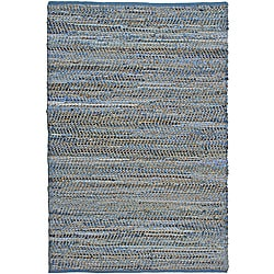 Hand Woven Blue Jeans Rug (4&#39; x 6&#39;)