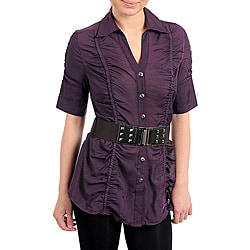 Stanzino Women's Plum Belted Top