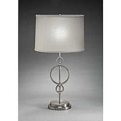 Aztec Lighting Contemporary 1-light Table Lamp in Brushed Nickel