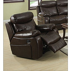 Hilton Brown Bonded Leather Reclining Chair