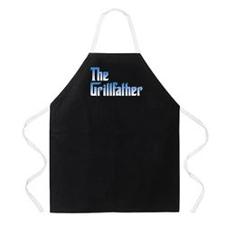 Attitude Aprons 'The Grillfather Apron' Black Apron