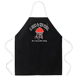 Attitude Aprons 'A Man and His Grill' Apron
