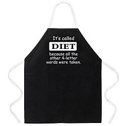 Attitude Aprons 'Diet' Black Apron