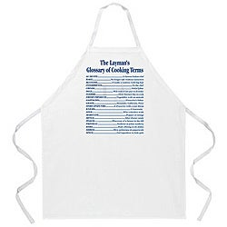 Attitude Aprons 'Cooking Terms' White Apron