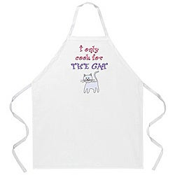 Attitude Aprons 'Cook for the Cat' White Apron