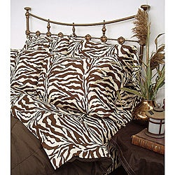 Wildlife Brown Zebra Cal King-size Sheet Set