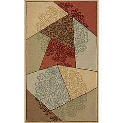 Outdoor South Beach Multi Prism Rug (3'9 x 5'9)