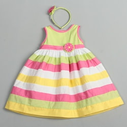 Donita Toddler Girl's Multi Stripe Dress