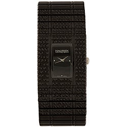 Haurex Women's Italy Jet Black Crystal Watch