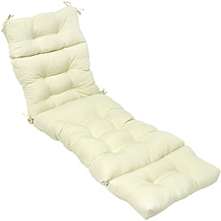Outdoor Beige 72-inch Chaise Lounger Cushion