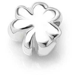 Chuvora Sterling Silver Shamrock Charm Bead
