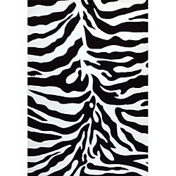 Generations Black Zebra Rug (5'2 x 7'2)