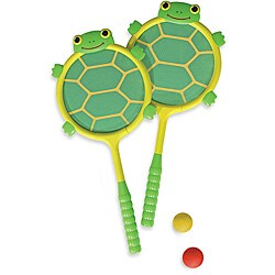 Melissa & Doug Tootle Turtle Racquet and Ball Set