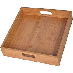 Square Bamboo Serving Trays (Set of 2)