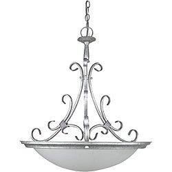Tuscan Silver 4-light Bowl Pendant Light Fixture