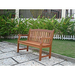 Marley 2-Seater Eucalyptus Wood Outdoor Bench