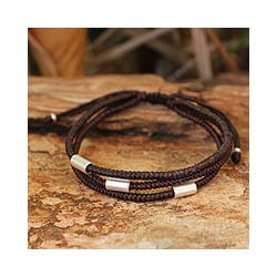Silver Accent 'Hill Tribe Friend' Wristband Bracelet (Thailand)