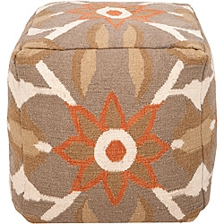 Decorative Botanic Green Pouf