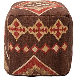 Decorative Southwestern Brown Pouf