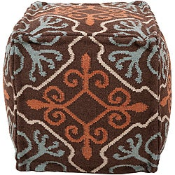 Decorative Antique Brown Pouf