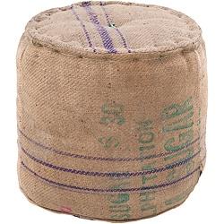 Decorative Mayle Tan Pouf