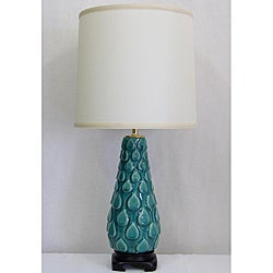 Contemporary Distressed Turquoise Table Lamp