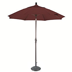 Terracotta 9-foot Fiberglass Umbrella with Collar Tilt with 50-pound Stand
