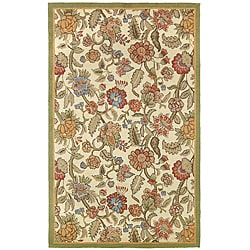 Loop Tufted Providence Botanica Blue Rug (3'6 x 5'6)