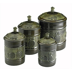 Old Dutch Pi�a Canisters with Fresh Seal Covers (Set of 4)