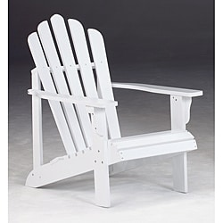 Bernards Addison White Cedar Adirondack Patio Chair