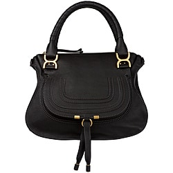 Chloe 'Marcie' Small Black Leather Satchel