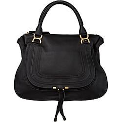 Chloe 'Marcie' Black Leather Shoulder Bag