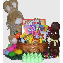 Chocolate Easter Bunny Basket