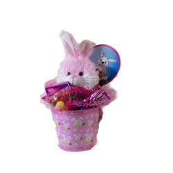 Little Girls Pink Easter Pail
