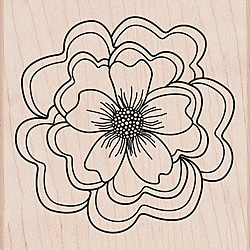 Hero Arts Mounted Rubber Stamps-Ruffled Flower