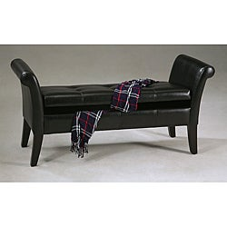 Bi-cast Leather Storage Bench