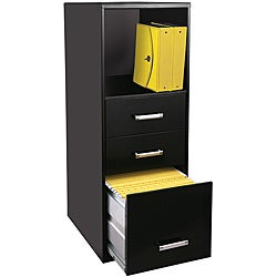 Office Designs 3-drawer Steel File Cabinet with Shelf