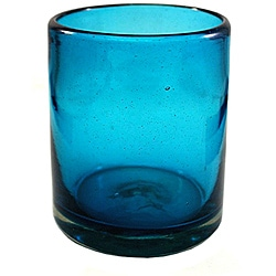 Set of 4 Santorini Recycled Glass Tumblers (Mexico)