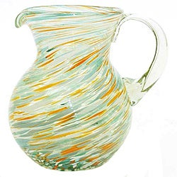 Calypso Blue/ Orange Pitcher