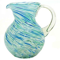 Pacifica Ball Blue Swirl Pitcher