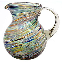 Carnival Multicolored Swirl Pitcher