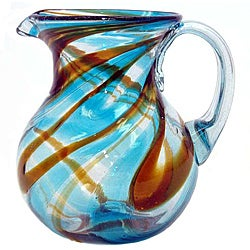 Sinatra Blue/ Brown Pitcher