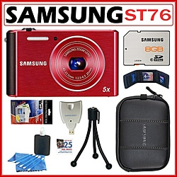 Samsung ST76 16MP Digital Camera with 8GB Kit