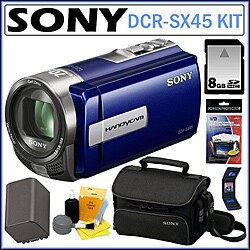 Sony DCR-SX45 Handycam SD Camcorder with 8GB Kit